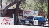 Photo of Potrero Cafe where I saw Supervisor Gilbert on 8-1-00